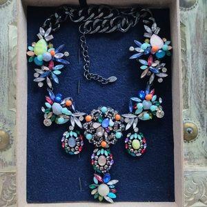 Zara Vintage Rhinestone Necklace - Multicolored